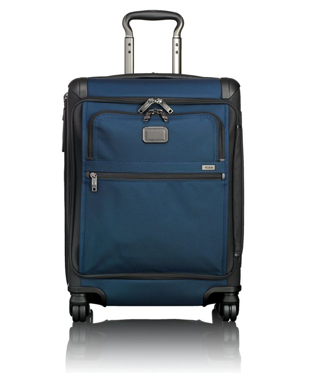 Continental Expandable 4 Wheeled Front Lid Carry-On in Navy/Black