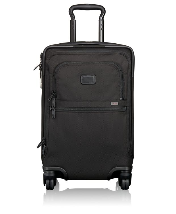 International 4 Wheeled Office Carry-On in Black