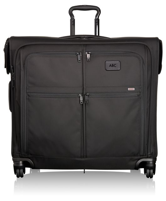 4 Wheeled Extended Trip Garment Bag in Black