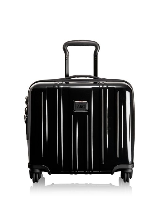 Compact Carry-On 4 Wheeled Briefcase in Black