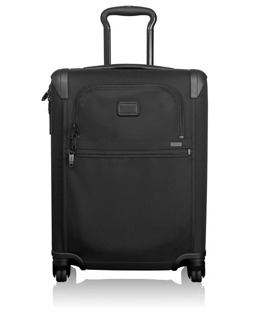 International 4 Wheeled Slim Carry-On in Black