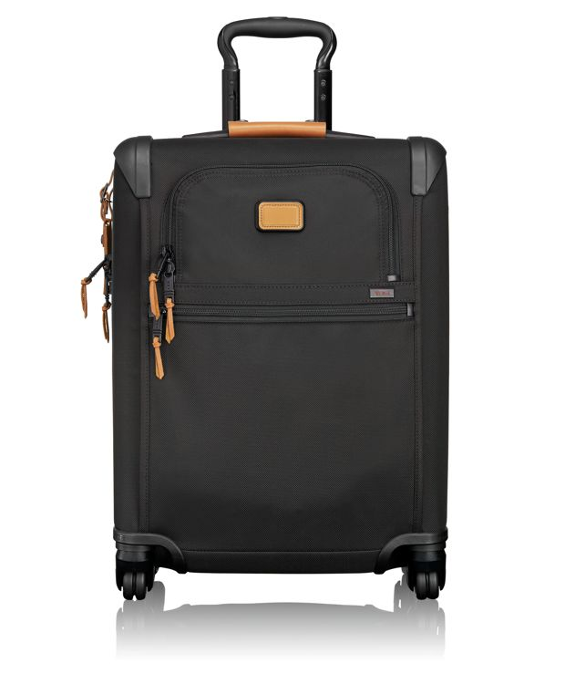 International 4 Wheeled Slim Carry-On in Tan