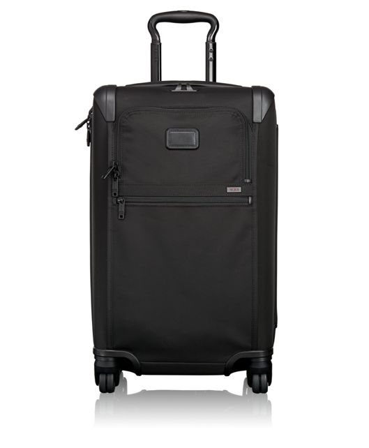 Frequent Traveler Expandable 4 Wheeled Carry-On in Black