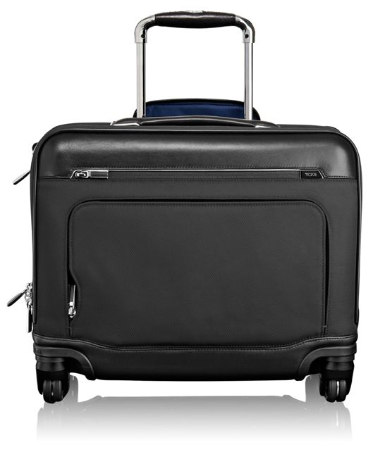 McAllen Wheeled Brief with Laptop Insert in Black