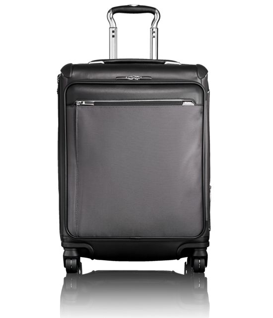 Aberdeen Continental Front Lid Expandable Carry-On in Pewter
