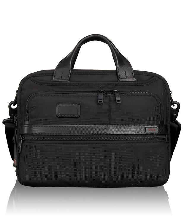 Small Screen Expandable Laptop Brief in Black