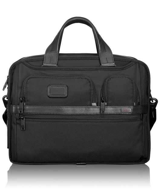 Expandable Organizer Laptop Brief in Black
