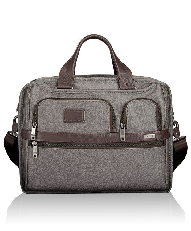 Expandable Organizer Computer Brief in Earl Grey