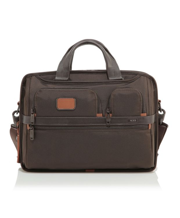 TUMI T-Pass® Medium Screen Laptop Slim Brief in Espresso