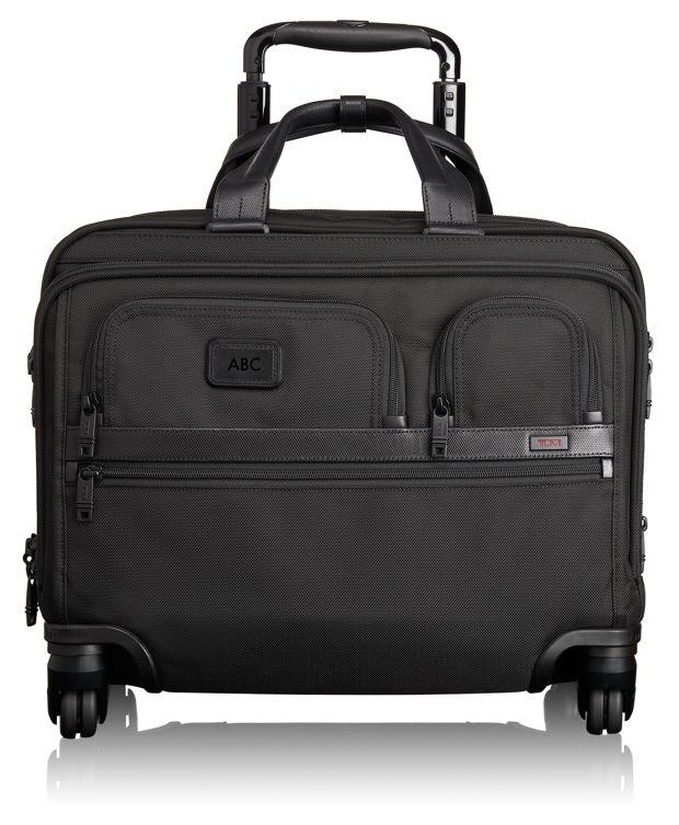 4 Wheeled Deluxe Brief with Laptop Case in Black