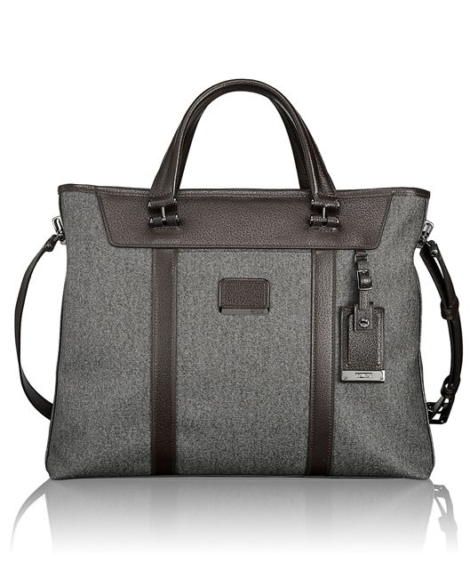 Avery Brief Tote in Earl Grey