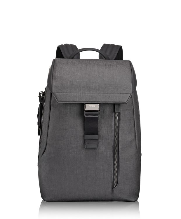 Dresden Flap Backpack in Grey