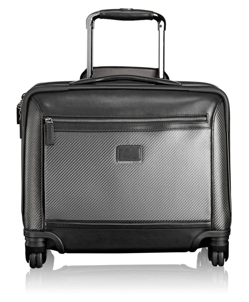 Carbon Fiber Valencia Compact Carry-On 4 Wheeled Briefcase