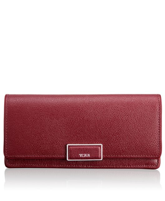Envelope Wallet in Cranberry