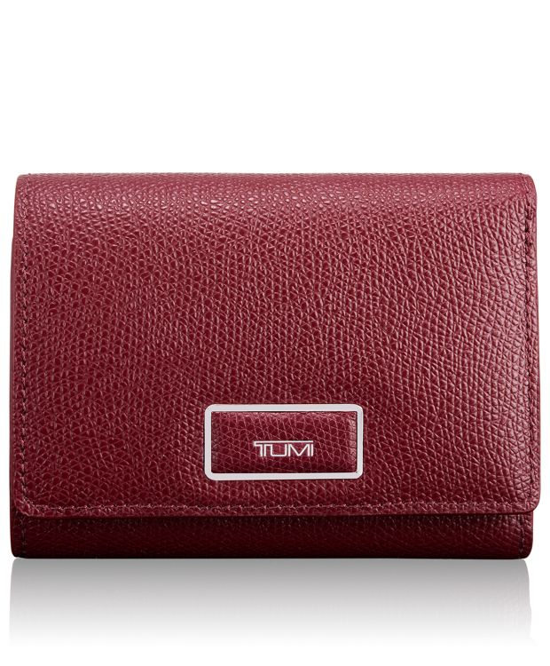 Tri-Fold Wallet in Cranberry