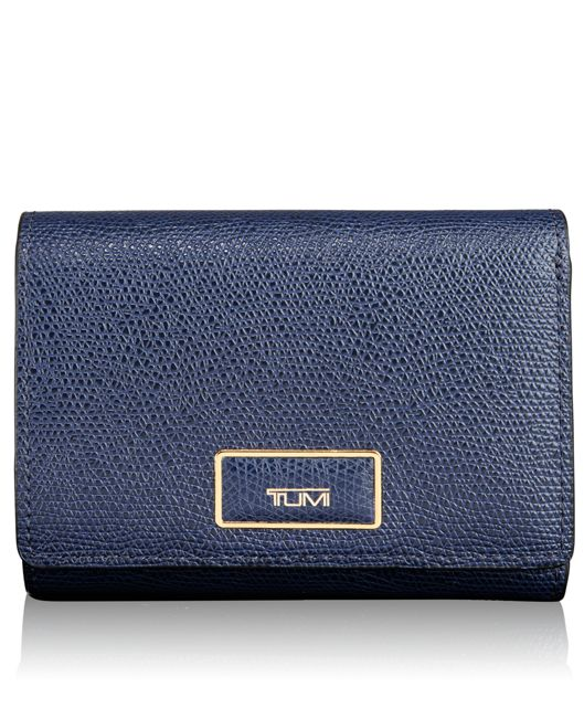 Tri-Fold Wallet in Moroccan Blue