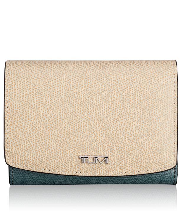 Tri-Fold Wallet in Blue/Cream Spectator