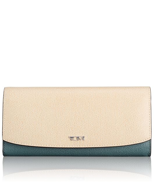Envelope Wallet in Blue/Cream Spectator