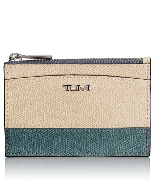 Slim Card Case in Blue/Cream Spectator