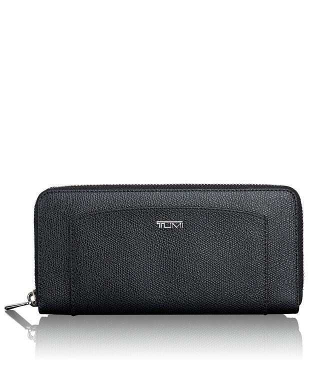 Zip-Around Continental in Black