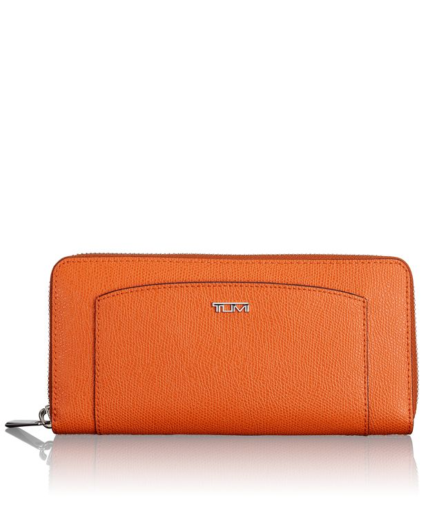 Zip-Around Continental in Orange