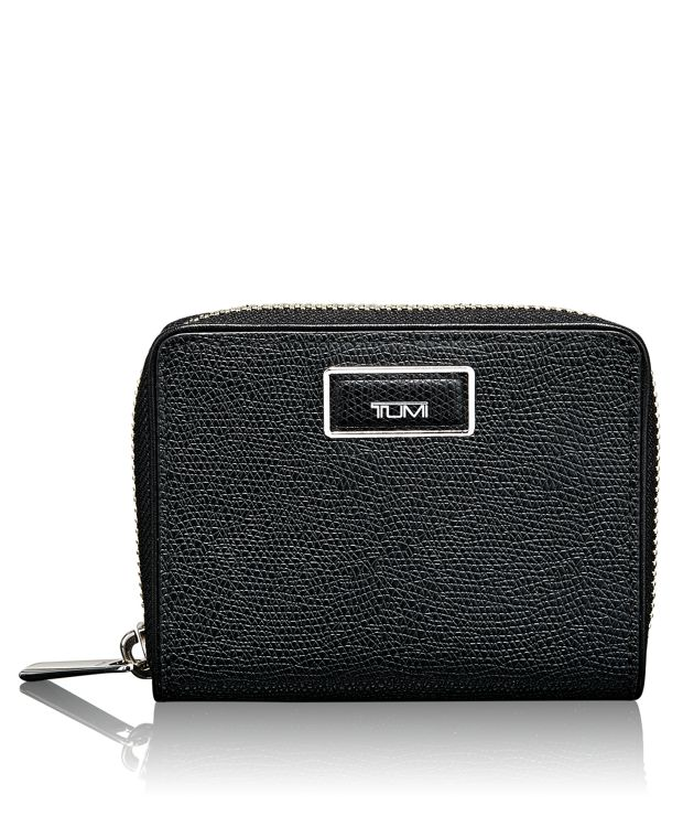 Zip-Around Small Wallet in Black