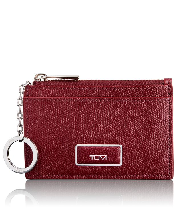 Slim Card Case in Cranberry