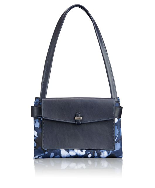 Foldable Tote in Indigo Floral