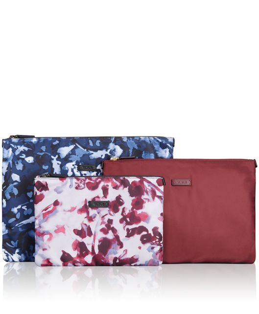 3 Pouch Set in FLORAL PRINT MULTI