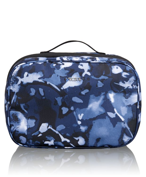 Lima Travel Toiletry Kit in Indigo Floral