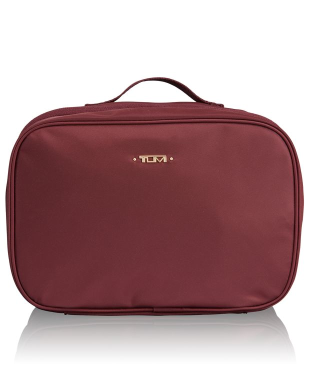 Lima Travel Toiletry Kit in Merlot