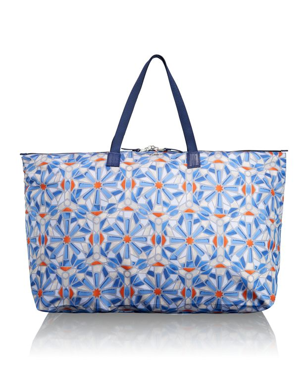 Just In Case® Travel Duffel in Cayenne Tile Print