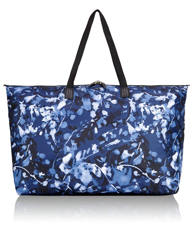 Just In Case® Travel Duffel in Indigo Floral