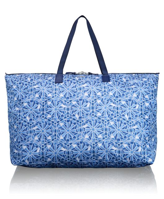 Just In Case® Travel Duffel in Moroccan Blue Tile P