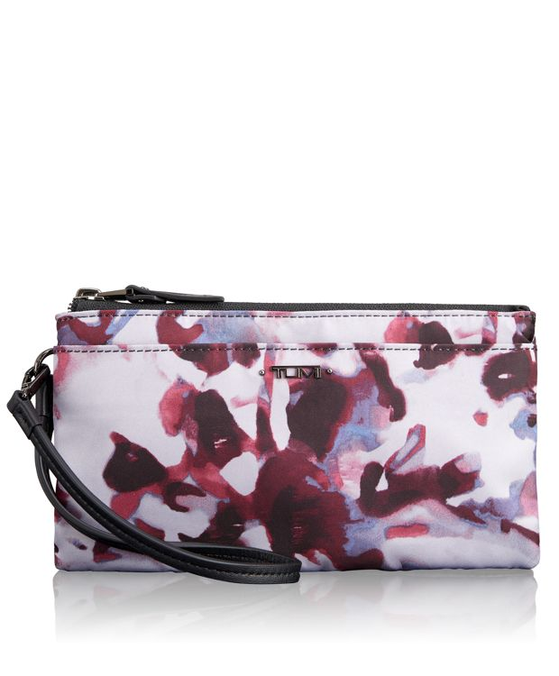 Double-Zip Wristlet in ORCHID FLORAL