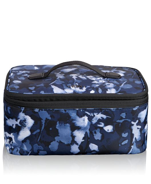 Travel Cosmetic Case in INDIGO FLORAL