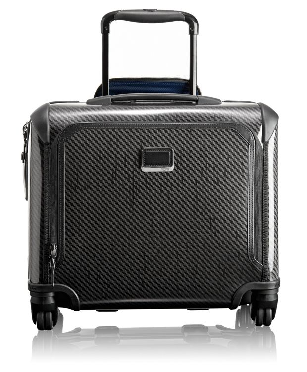 Compact Carry-On 4 Wheeled Briefcase in Black Graphite