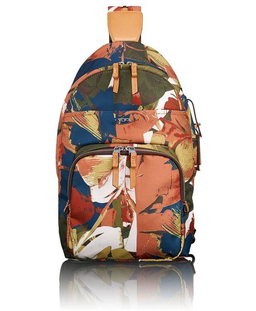 Nadia Convertible Backpack/Sling in Banana Leaf Print
