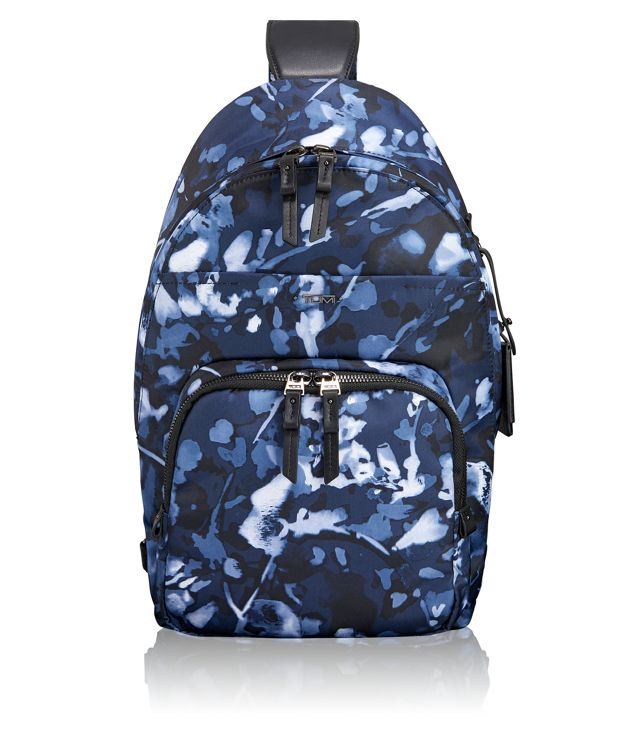 Nadia Convertible Backpack/Sling in Indigo Floral