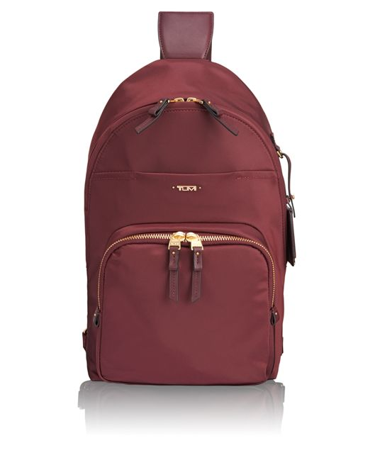 Nadia Convertible Backpack/Sling in Merlot