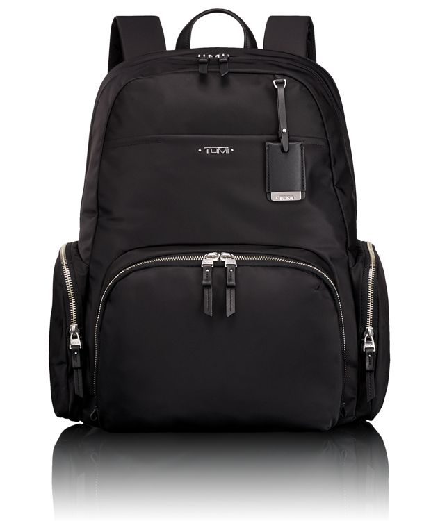Calais Backpack in Black/Silver