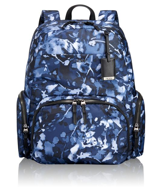 Calais Backpack in Indigo Floral