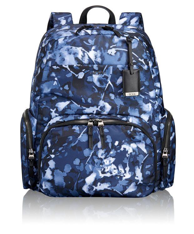 Calais Backpack in INDIGO FLORAL