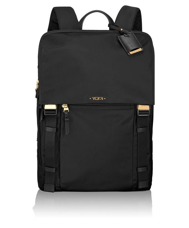 Sacha Flap Backpack in Black