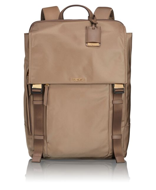 Sacha Flap Backpack in Khaki
