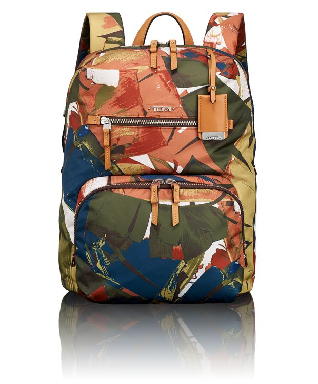 Halle Backpack in Banana Leaf Print