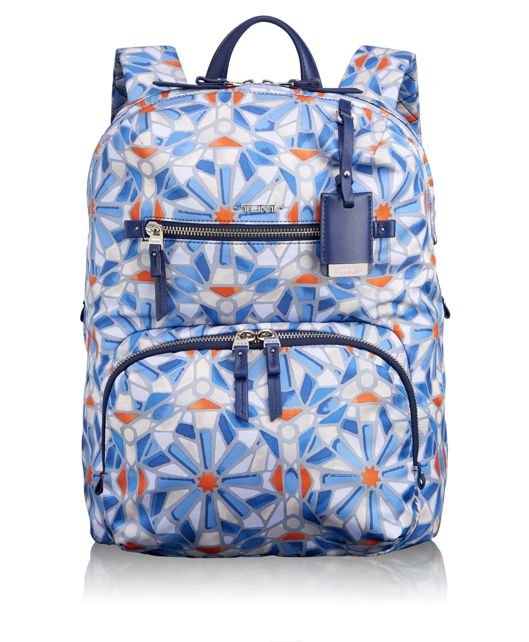 Halle Backpack in Cayenne Tile Print