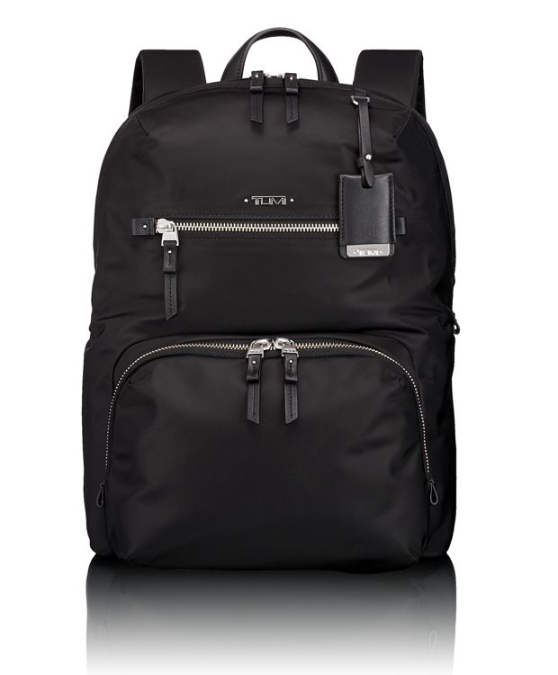 Halle Backpack in Black w/Silver