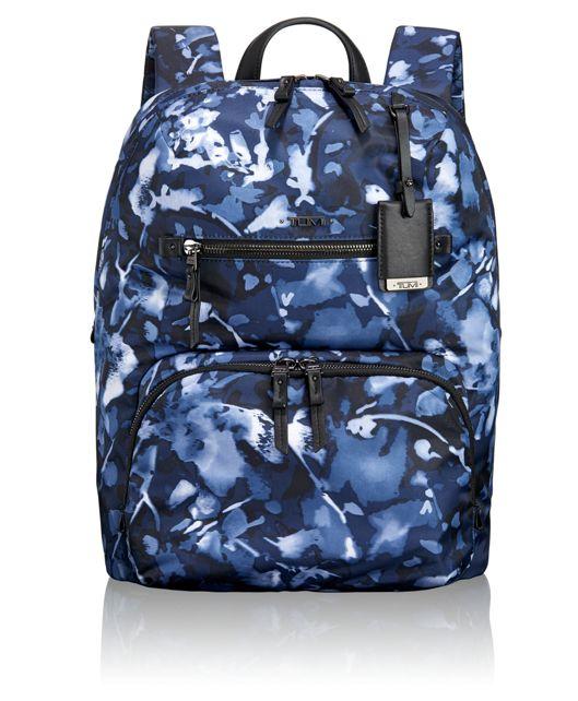 Halle Backpack in Indigo Floral
