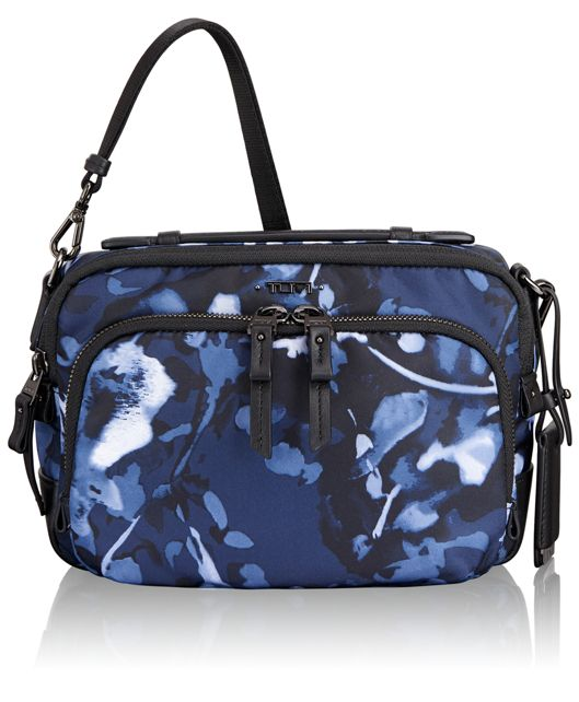 Luanda Flight Bag in Indigo Floral